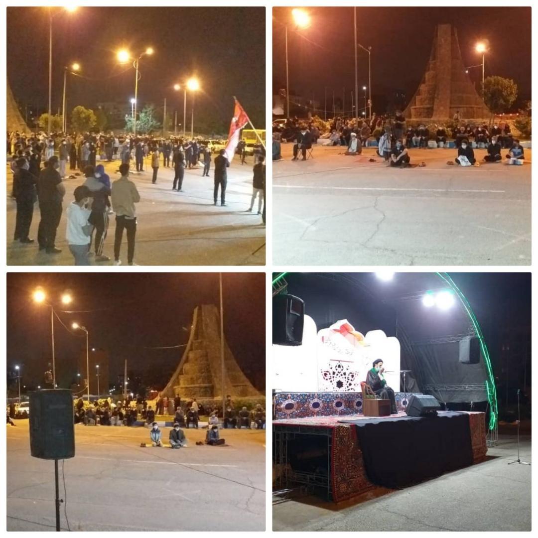 برگزاری باشکوه مراسم شب های مبارک قدر در شهر احمدآباد مستوفی