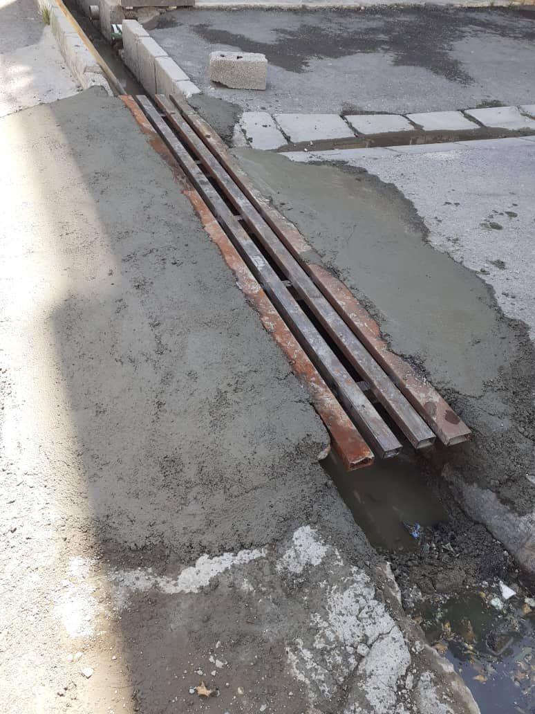 ساخت و نصب پل فلزی در ابتدای کوچه شهید چمران