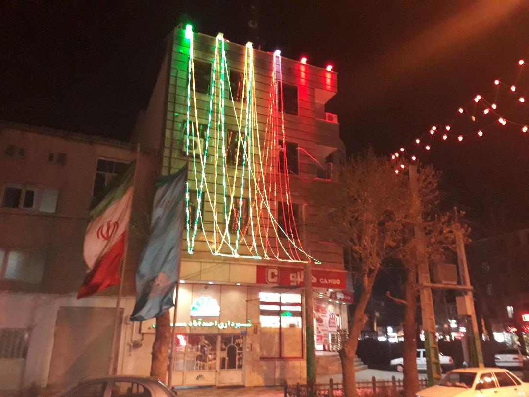 روشنایی و نورپردازی زیبا و شکیل بلوار شهید ابوالقاسم