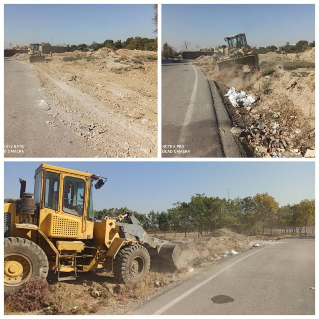 پاکسازی و تسطیح خیابان 22 بهمن