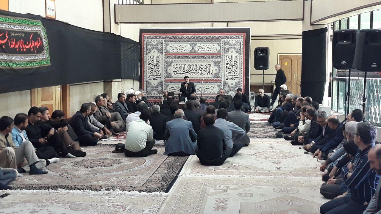 حضور مسئولین شهر احمدآباد مستوفی در مراسم عزاداری حضرت امام حسین(ع) در فرمانداری اسلامشهر