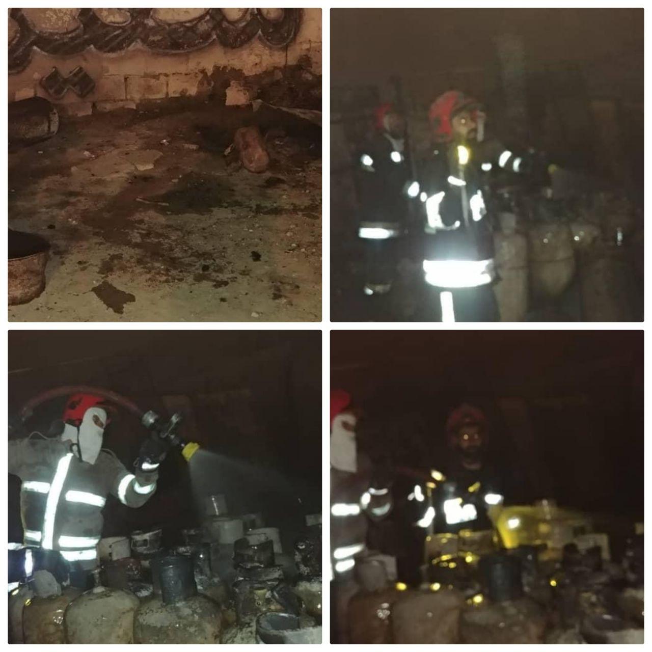 اطفاء و مهار حریق گسترده رخ داده در در منطقه نوروز آباد در حاشیه جاده احمدآباد مستوفی