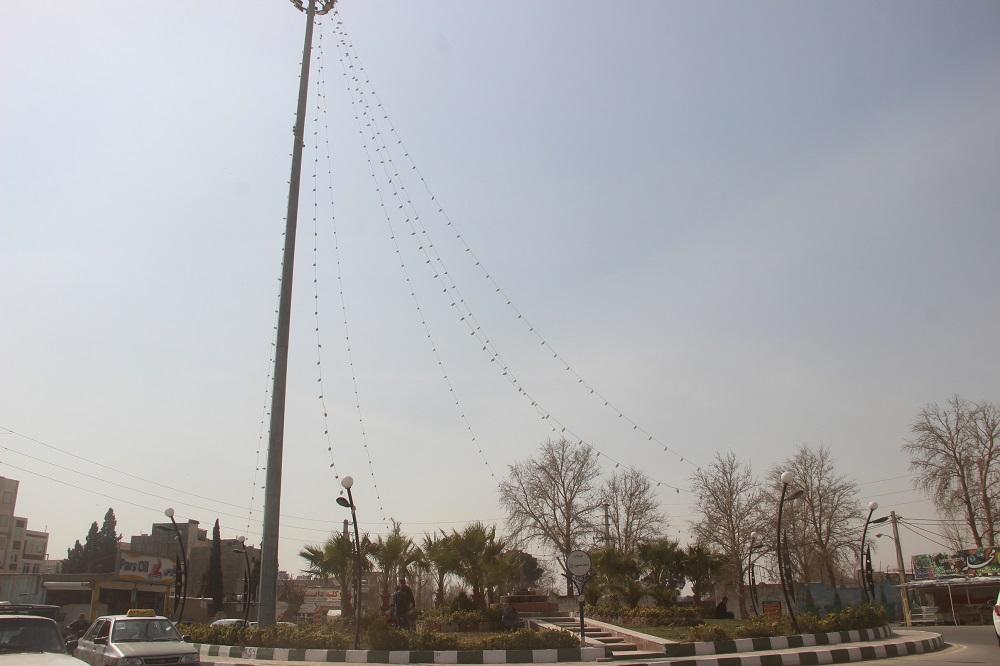 روشنایی و نورپردازی میدان امام حسین(ع)